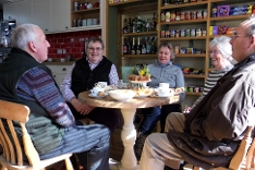 Customers at Post and Pantry's Tea Room