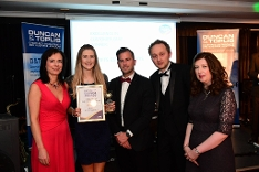 The Crofts Team with their Award at last year's Awards evening