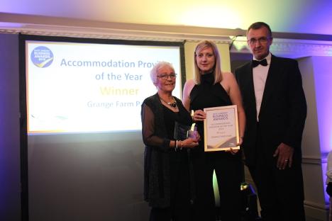 Grange Farm Park recieve the Accomodation Provider of the Year Award
