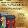 Image representing Residents reminded to check their bin collections over the Christmas and New Year period
