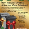 Residents reminded to check their bin collections over the Christmas and New Year period