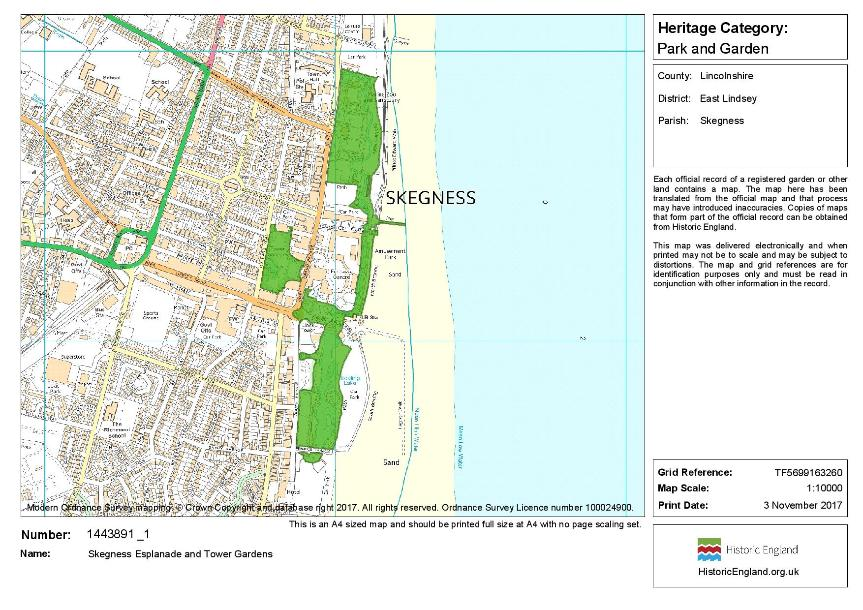 Map of designated area - Historic Parks and Gardens